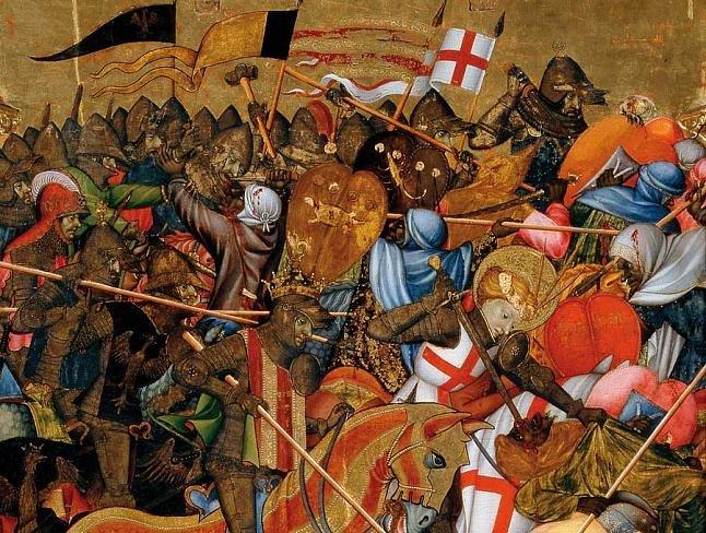 Batalla del Puig del retablo del Centenar de la Ploma de Marxal de Sax