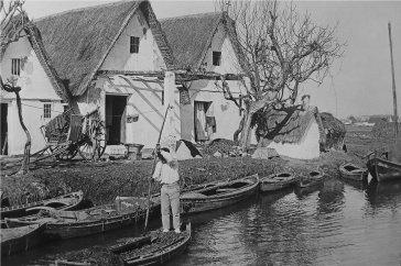 Barraques en l'Albufera, any 1930